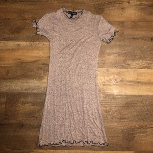 grey and pink heather dress